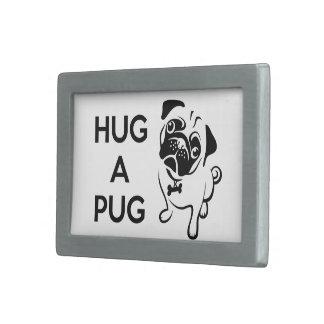 Hug a Pug Belt Buckle