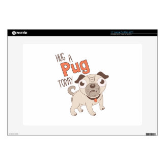 Hug A Pug Decals For Laptops