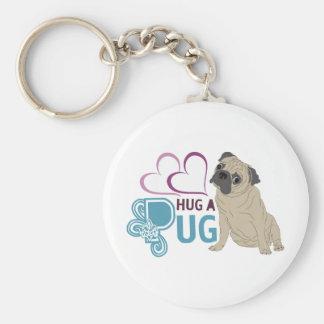 hug a pug keychain