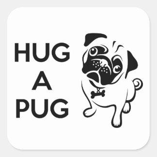 Hug a Pug Square Sticker