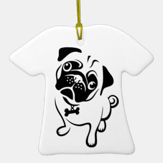 Hug a Pug T-Shirt Ornament
