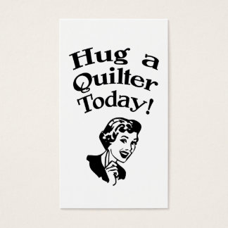 Hug A Quilter Business Card