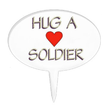 Hug a Soldier Cake Topper
