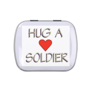 Hug a Soldier Candy Tin