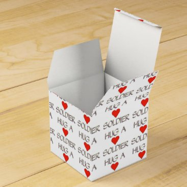 Hug a Soldier Favor Box