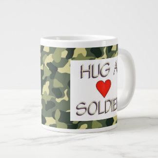 Hug a Soldier Giant Coffee Mug