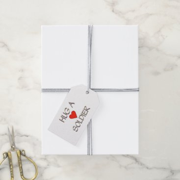 Hug a Soldier Gift Tags