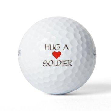 Hug a Soldier Golf Balls