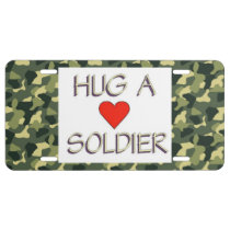 Hug a Soldier License Plate