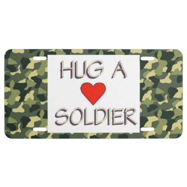 Hug a Soldier License Plate