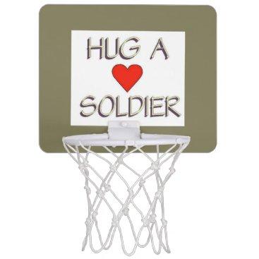 Hug a Soldier Mini Basketball Backboard