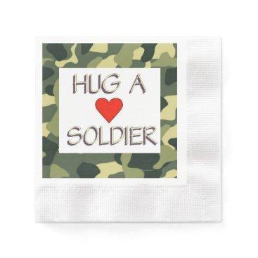 Hug a Soldier Napkin