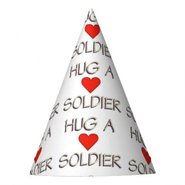 Hug a Soldier Party Hat