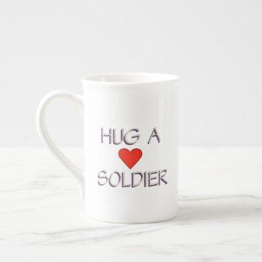 Hug a Soldier Tea Cup