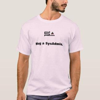 hug a sysadmin t-shirt