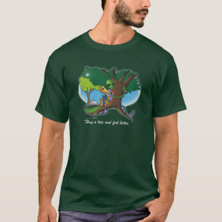 Hug a tree and feel better by Gregory Gallo T-Shirt