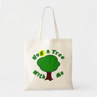 Hug a Tree Budget Tote Bag