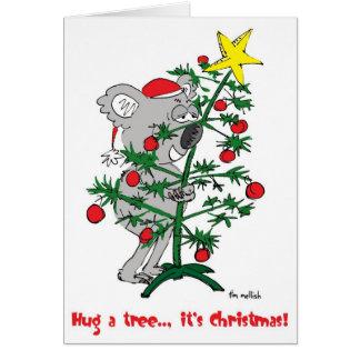 hug a tree card