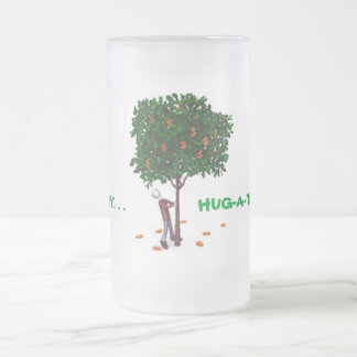 HUG-A-TREE FROSTED GLASS BEER MUG