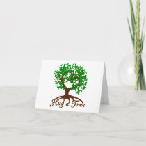 Hug a Tree Note Cards