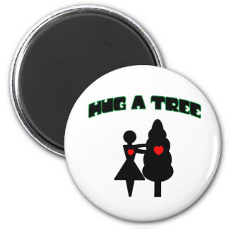Hug a Tree w/Hearts Magnet