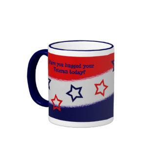 Hug a Veteran Red White & Blue Mug