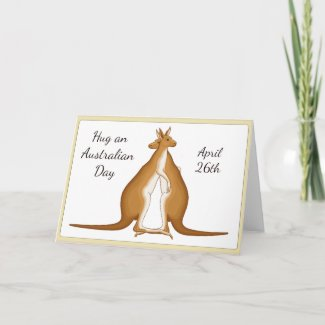 Hug an Australian Day April 26th Card
