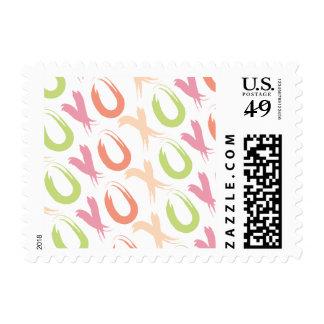 Hug and Kisses XOXO Postage Stamp