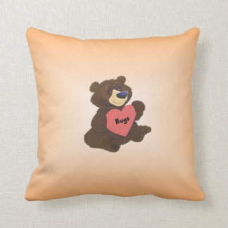Hug Bear on American Mojo Throw Pillow