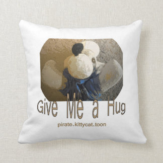 Hug Buffy Pirate Kitty Cat Toon Pillow