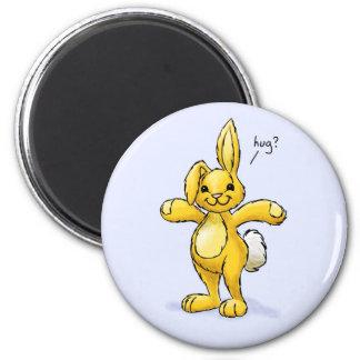 Hug Bunny 2 Inch Round Magnet
