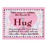 Hug Coupon Postcard