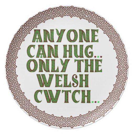 Hug & Cwtch With A Celtic Twist Plate