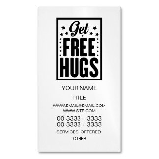 Hug Day - Fun Retro Advertising Magnetic Business Card