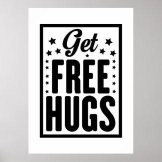 Hug Day - Fun Retro Advertising Poster