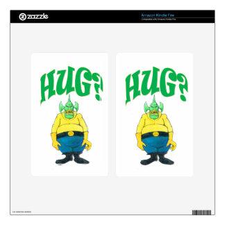 HUG? DECAL FOR KINDLE FIRE