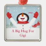 Hug for Gigi Christmas Snowman Ornament