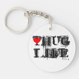 Hug Life Grunge Style Keychain