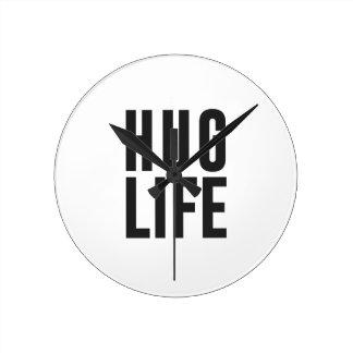 Hug Life Round Clock