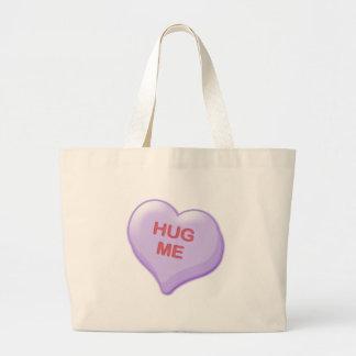 Hug Me Candy Heart Large Tote Bag