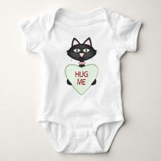Hug me CAT-conversation heart Baby Bodysuit