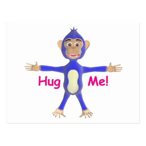 Hug Me Chimp Post Card