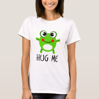 HUG ME Cute Green Frog T-Shirt