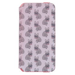 Hug me, cute Lilac Frenchie needs a hug iPhone 6/6s Wallet Case