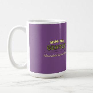 Hug Me Gently Rheumatoid Diseas Hurts mug - purple