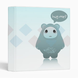 hug me ghost bear notebook 3 ring binder