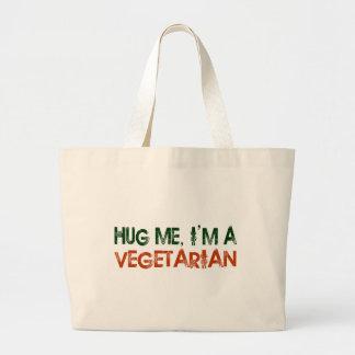Hug Me I M A Vegetarian Tote Bags