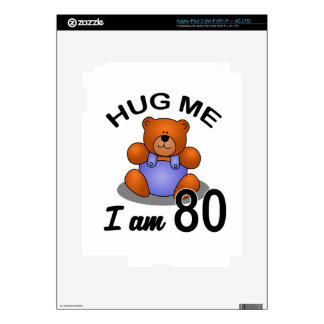 Hug me I'm 80 iPad 3 Decals