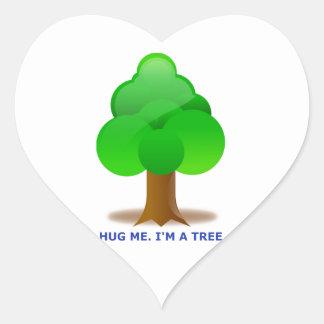 HUG ME. I'M A TREE! HEART STICKER