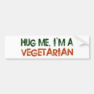 Hug Me I'M A Vegetarian Car Bumper Sticker